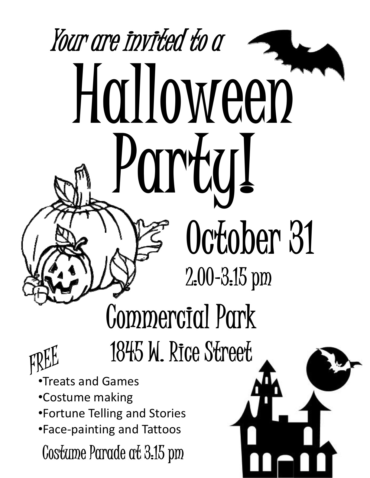 Halloween Party and Parade~ | Commercial Park