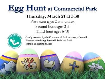 Egg hunt at Commercial Park