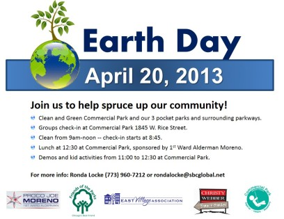earth day flyer 2013