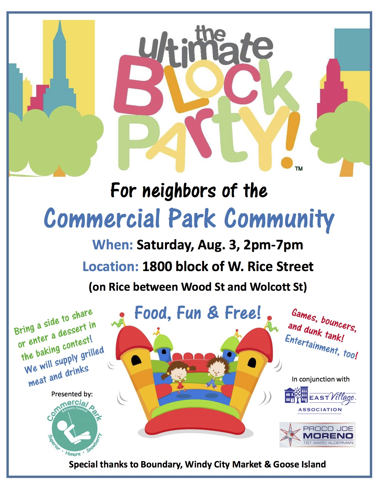 Commercial Park Community Block Party is back – Saturday ...