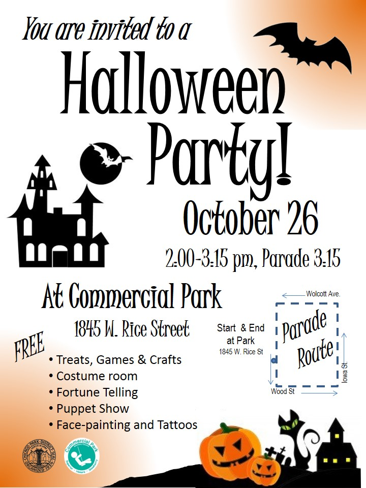 Halloween Party at Commercial Park – October 26th 2:00 – 3:15 P.M.