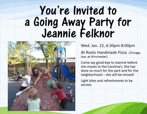 Going away party for Jeannie Felknor