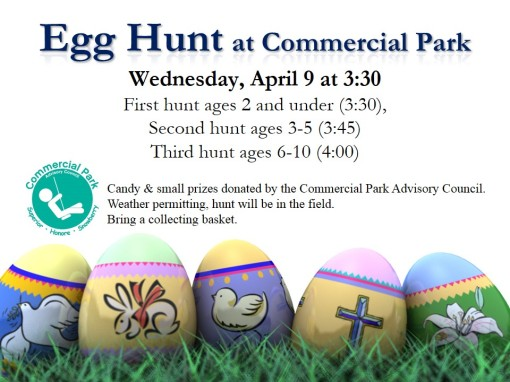 Easter Egg Hunt- two weeks from today!