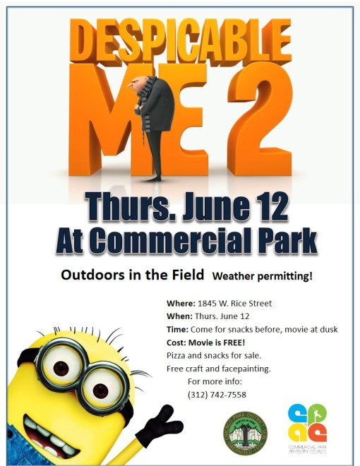 Save the date for our Commercial Park summer movie: June 12th !
